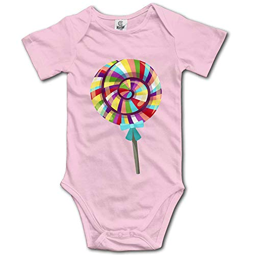 Clothes Set Candy Bodysuits Romper Short Sleeved Light Onesies,6M ()