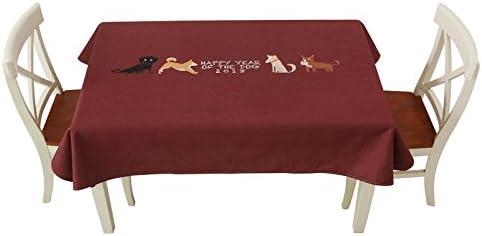 Tovaglie per rettangolo tabelle tovaglia per sala da pranzo organizzato tavolino tessuti stampati tovaglia tavolino organizzato semplice rettangolo tabella copertina moderna-B-100x140cm(39x55inch) 211128