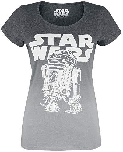 Star Wars R2D2 Logo T-Shirt grau meliert S