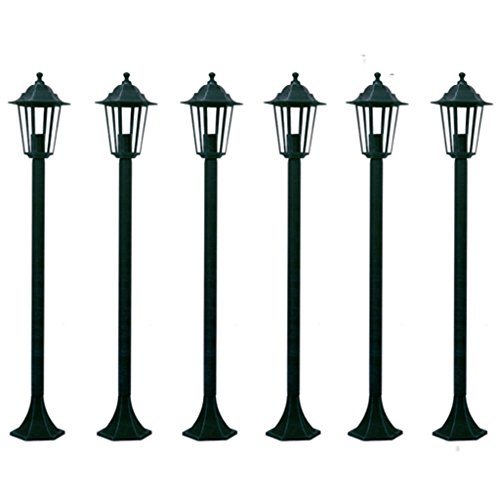 vidaXL 6 Aluguß Kandelaber Garten Laterne Aussenleuchte Gartenleuchte Lampe 40367