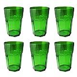 Omada Design Set 6 Bicchieri Alti in Plastica Infrangibile capacità…
