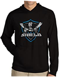 WWE SHIELD HOODIE SWEATSHIRT : WWE SHIELD REUNITE BLACK SWEATSHIRT