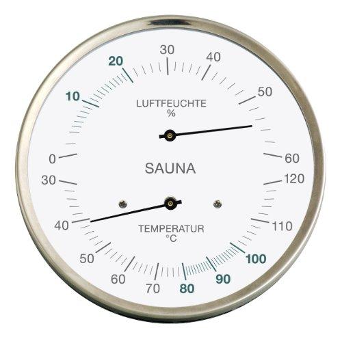 Sauna-Thermohygrometer, Edelstahlgehäuse
