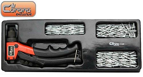 Corona Exclusive Pince à riveter/rivets de câblage 151 pièces compact 200 mm (C1220 Cor)