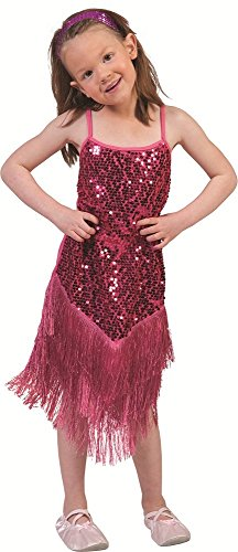 Charleston Kostüm Marlene für Kinder Pink Gr. (Kostüm 20er Mädchen)