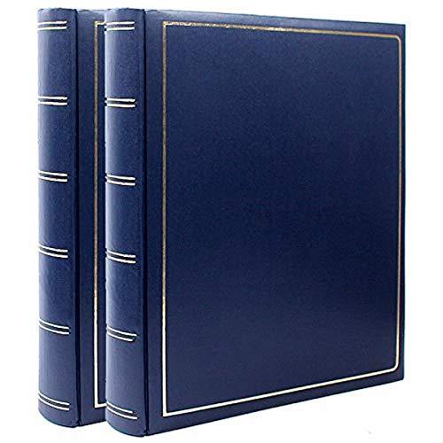 Lot de 2 albums photos Traditionnel Simili Cuir Bleu 100 pages noires, 400 photos 10x15 cm Couverture en simili cuir Bordeaux Dimensions : 28x32 cm, existe aussi en bordeaux