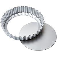 Made in Italy Obstkuchenform und Backform Antihaftbeschichtung Maxiflon /Ø 24 und 30cm Set von 2 Quicheform Antihaftbeschichtung