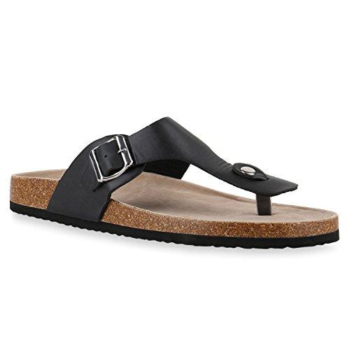 Confortáveis Pretos Toe sapatos Trenner Chinelos Chinelos Homens IxqY46S4