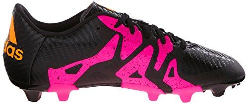 Adidas bambini X 15.3Fg/ag J Calcio Cleat Black/Shock Pink/Gold