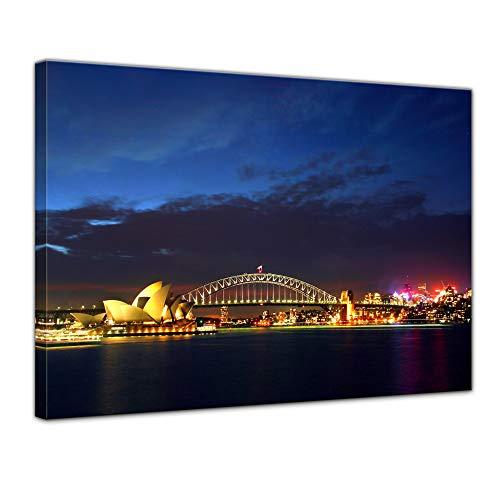 Kunstdruck – Sydney Opera House und die Harbour Bridge – Bild auf Leinwand