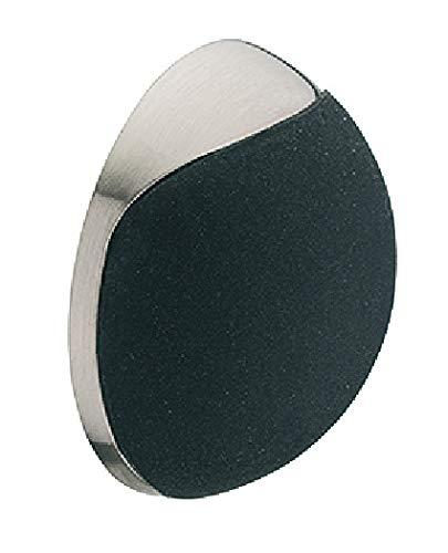Gedotec Design Wand-Türpuffer Edelstahl Türstopper rund Gummi-Puffer für Wandmontage - H10700 | Gummi: weiß | Stopper mit Ø 38 mm | Höhe: 15 mm | 1 Stück - Wandpuffer selbstklebend oder Schrauben
