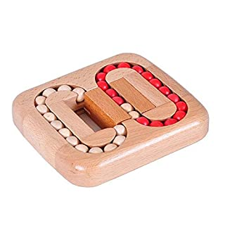 BeesClover Luban lock series of toys adult educational toys maze game plane ball wooden play children's table game toys show