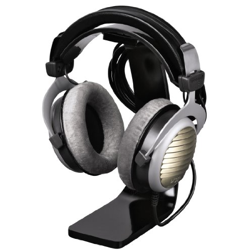 Hama Kopfhörer-Ständer (Kopfhörer-Halter mit Kabelhalterung, Höhe 23cm, Acryl) schwarz - 3