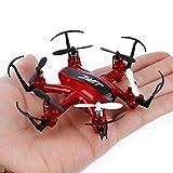 JJRC Redpawz H20 RC Drohne Quadrocopter 2.4GHz Drone mit 4 Kanal, 6 Achsen Gyro, 3D-Flip,kopflos-Modus Mini Drohne -(Rot) (rot)