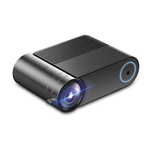 Mini-LED-Projektor, Heimkino-Unterstützung 1080P Full HD, ist Lebensdauer der Lichtquelle 30,000H, kompatibel mit HDMI/VGA/AV/USB für Home Entertainment, Party und Spiele