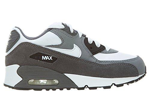Nike Jungen Air Max 90 (Ps) Laufschuhe Blanco / Gris (White / White-Cool Grey-Drk Grey)