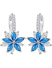 d022faf02268 flores azules - Pendientes   Mujer  Joyería - Amazon.es