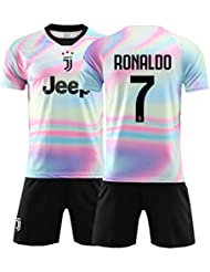 6308a5e9c BINGLI Juventus Ronaldo #7 Commemorative Edition 2018/19 Football Kits For  Kids Youth And