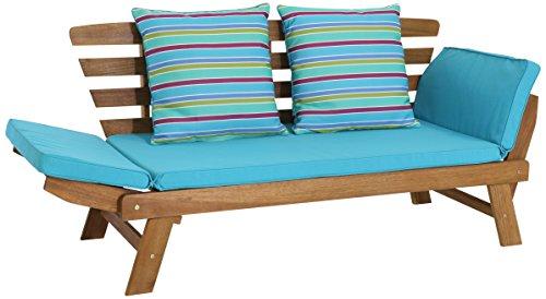 greemotion Multifunktionsbank Borkum akazie/blau, inklusive Kissen, als Sofa und Liege nutzbar