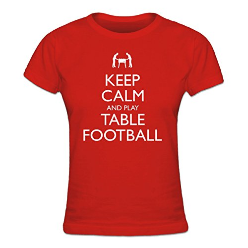 Shirtcity Keep Calm and Play Table Football Frauen T-Shirt by