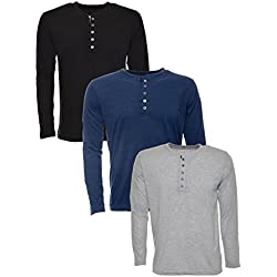 Aarbee Men's Cotton T-Shirt (Combo of 3) (blue-combo3_M_Multi_Medium)