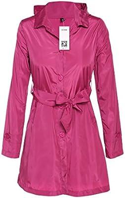 ACEVOG Chaquetas Impermeables Largas Abrigo con capucha Chubasquero Outdoor Verano de Mujer