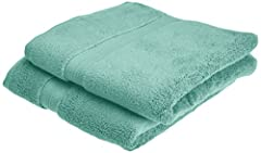 Idea Regalo - Pinzon - Set di 2 asciugamani in cotone Pima, verde minerale