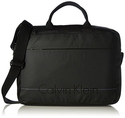 Calvin Klein Jeans Herren Logan 2.0 Umhängetaschen, 30x40x9 cm Schwarz (BLACK 001 001)