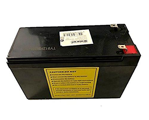 DOBO® Batteria senza manutenzione per moto e scooter 12V 9Ah di tipo non spillable senza manutenzione, attacchi faston - Colore Nero