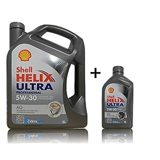 1x5 + 1x1 Liter Shell Helix Ultra AG Dexos 2 5W-30 Motoröl