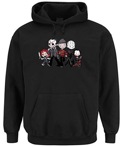 (Certified Freak Halloween Crew Hooded Sweater Black)