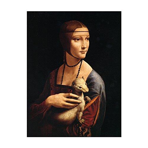 Bilderdepot24 Kunstdruck – Alte Meister – Leonardo da Vinci – Die Dame mit Dem Hermelin