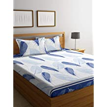 Cortina Elegantly Designed 104 TC 100% Cotton Bedsheet for Double Bed (Queen Size) with 2 Pillow Covers King Size - Multicolor (250 cm x 225 cm)