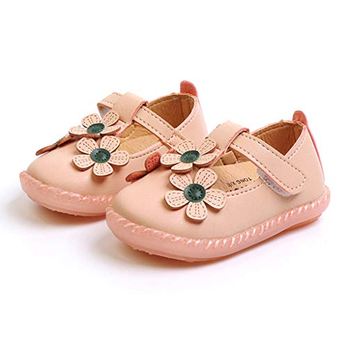 TeasyDay Blumensneaker für Baby Mädchen Erste Walker Single Schuhe, Kleinkind Krippe Schuhe, Säuglingswanderschuhe (Baby Walker Schmal)