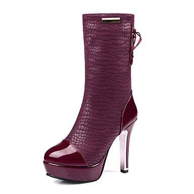 Wuyulunbi@ Scarpe Donna Autunno E Inverno Moda Stivali Stivali Piattaforma Testa Rotonda Con Un Plaid Partito Informale Noi11.5 / EU43 / UK9.5 / CN45