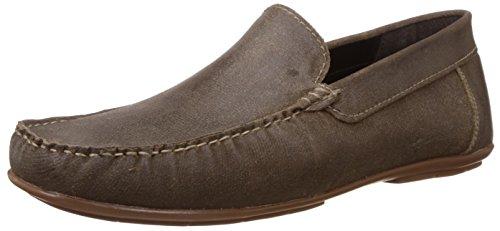 Alberto Torresi Men's Olive Leather Loafers and Mocassins - 9 UK