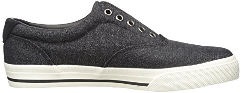 Polo Ralph Lauren Vito Heathered Nylon Fashion Sneaker Black