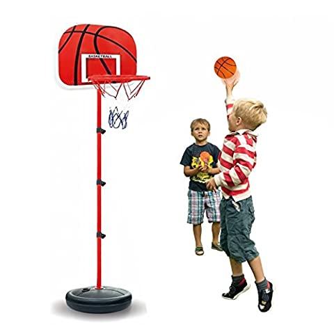 1.5M Adjustable Basketball Set Flexible Stand and Net Kids Toy Outdoor Indoor Sport Game Play Set Back Board Stand , Height Adjustment 63 to 120cm - Junior Children's