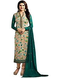 Viha Georgette Brasso Printed Semi-Stitched Straight Salwar Suit