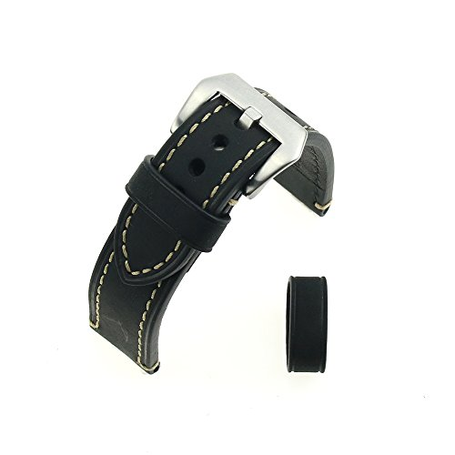 black-crazy-horse-leather-rough-thickened-wristwatch-watchband-20mm