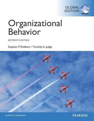 Organizational Behaviour, Global Edition by Timothy A. Judge Stephen P. Robbins (2014-05-29)