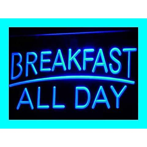 Insegna al neon i311-b BREAKFAST ALL DAY OPEN Cafe Bar Neon Light Sign - Neon Open Bar