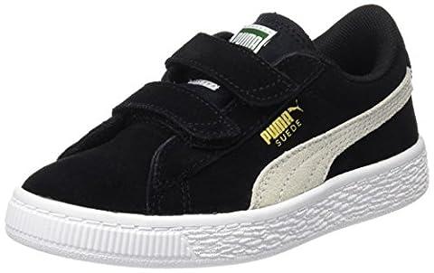 Puma Suede 2 Straps Ps, Sneakers Basses Mixte Enfant, Noir