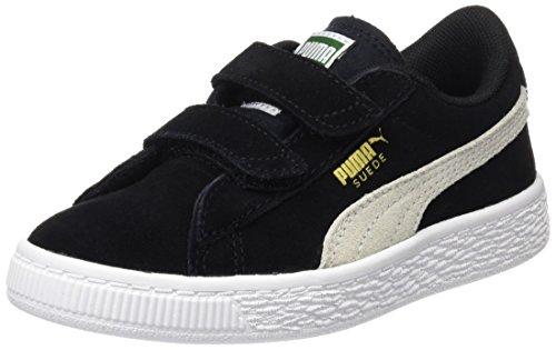 Puma Suede 2 Straps Ps, Sneakers Basses Mixte Enfant Noir (Puma Black-puma White 01)