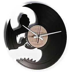 Om: Reloj de pared con disco de vinilo con Buda–idea regalo de vinilo para fans Yoga Buda y meditación