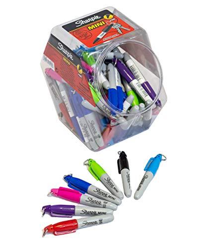 SHARPIE Erwachsene FILZSTIFT MINI-MARKER-70ER Pack Mini Permanent Marker, gemischte Farben-72er-Kanister, Mehrfarbig, ONE Size Rubbermaid Mini