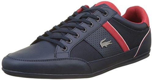 Lacoste Herren Chaymon 218 1 Cam Sneaker, Grün (Nvy/Red 144), 42 EU