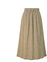 4dc1c15cc3ae3 XZ Femme Longue Jupe,A-Line Jupe Haut Taille Robe de Soirée Girls Tricoter  Jupe…