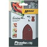 Black & Decker X31034 Mouse - Láminas para lijadora (5 unidades, grano 40)