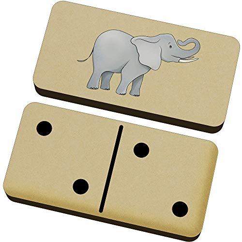 Azeeda 'Elefante' Domino Juego y Caja (DM00022233)